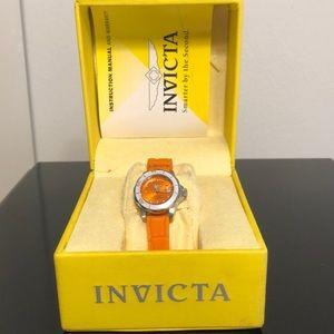 Orange invicta watch